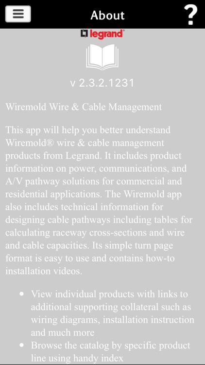 wiremold literature app by legrand  inc