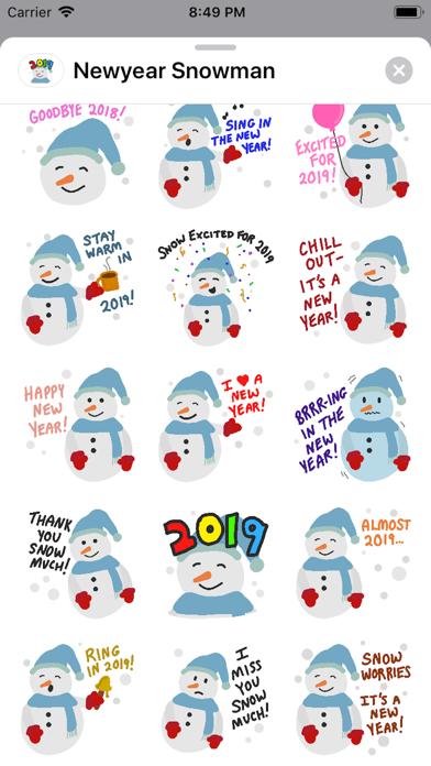 点击获取New Year 2019 Snowman