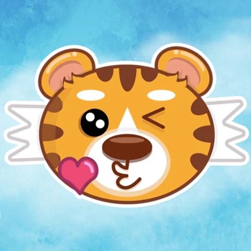 Cutie Tiger Stickers