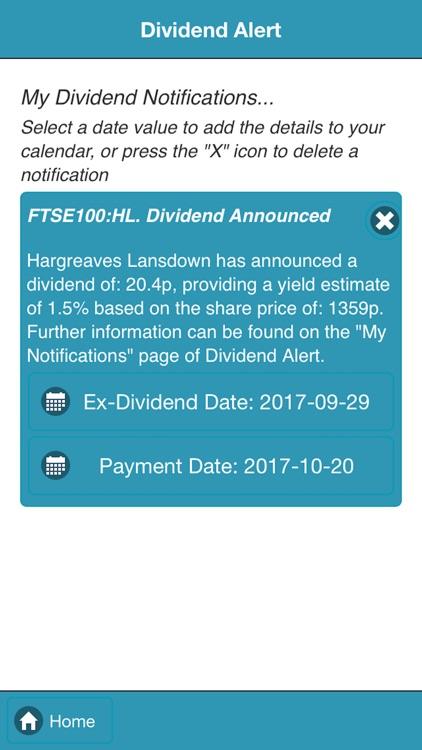 Dividend Alert screenshot-3