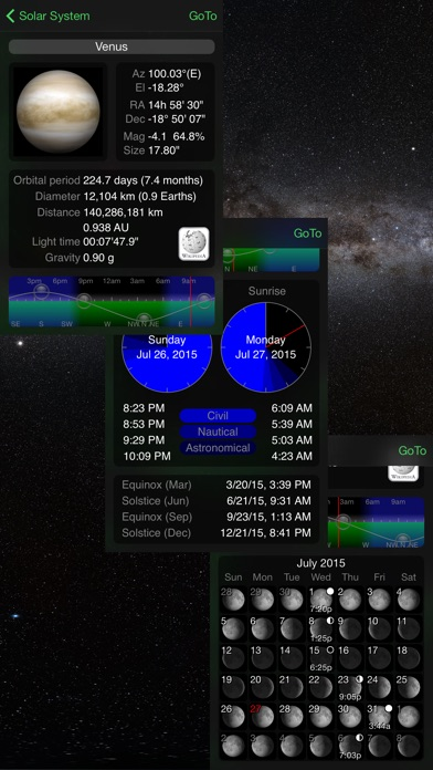 GoSkyWatch Planetarium - the astronomy star guide Screenshot 4