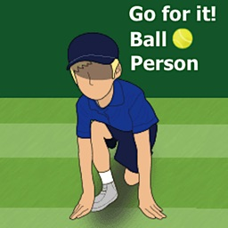 Tennis Ball Person Sticker