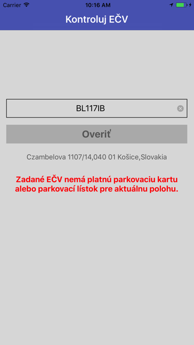 Kontroluj EČV screenshot three