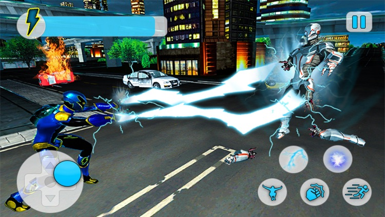 City Superhero Electric-Man screenshot-4