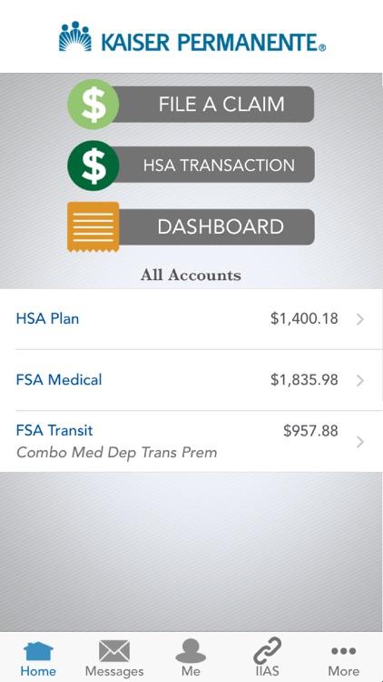 KP HRA/HSA/FSA Balance Tracker