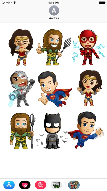Justice League - Stickers screenshot-3