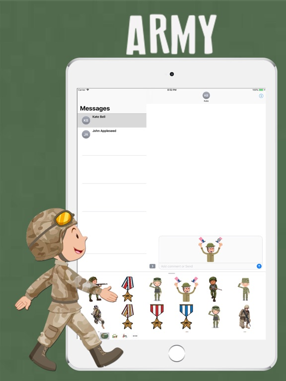 Army Pack Stickers screenshot #1