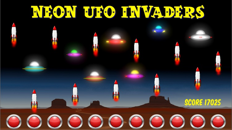 Neon UFO Invaders from Space screenshot-4