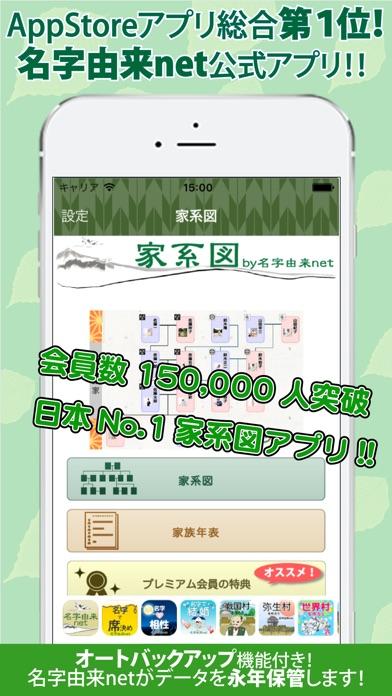 Screenshot for 家系図アプリ by 名字由来net in Japan App Store