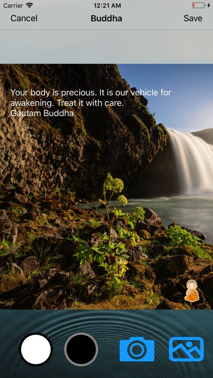Buddha Quotes Image Editor screenshot-2