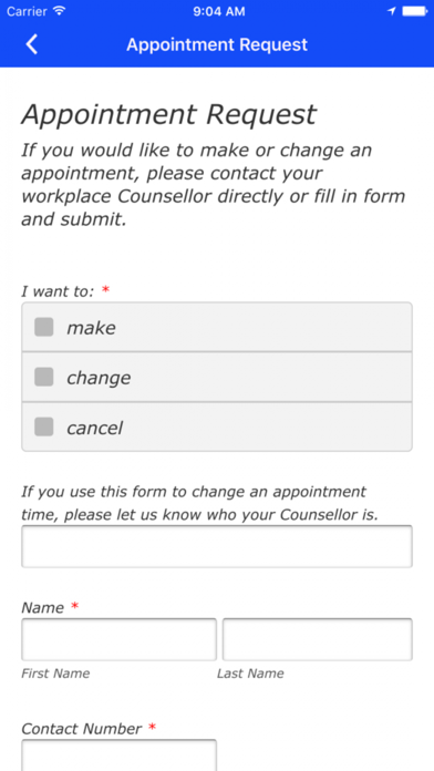 Employee Assistance Services screenshot two