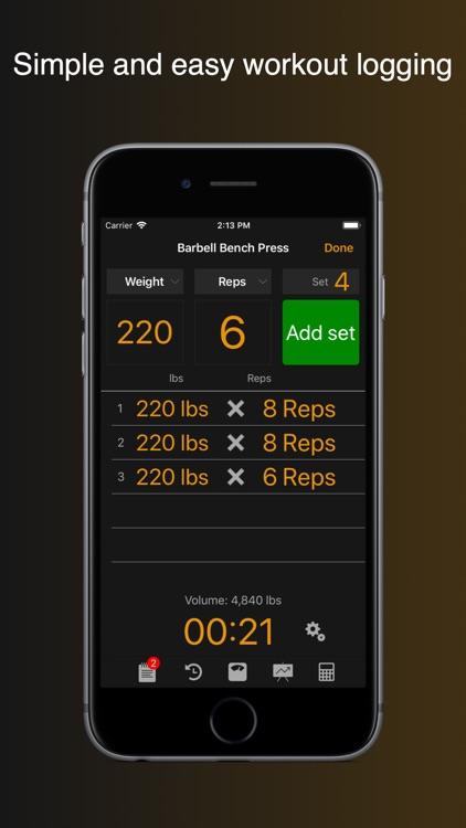 Gym Horn: Workout Log Tracker screenshot-0
