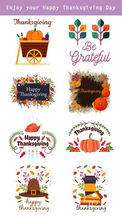 Happy Thanksgiving Day Sticker screenshot-3