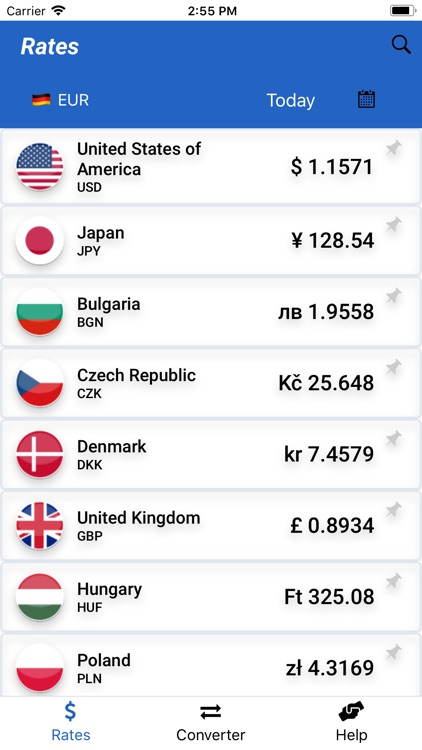 Forex currency rates app 5 types financial investment risks