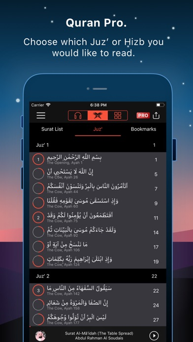 Screenshot for Quran Pro Muslim القرآن الكريم in Pakistan App Store