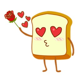 Cute White Bread Sticker