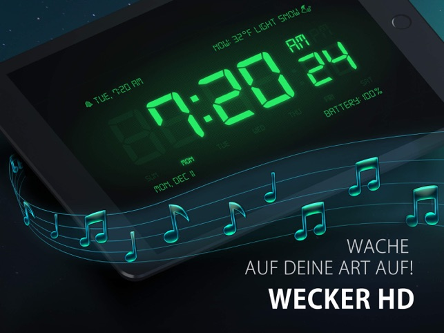 Wecker HD - Digitalanzeige Screenshot