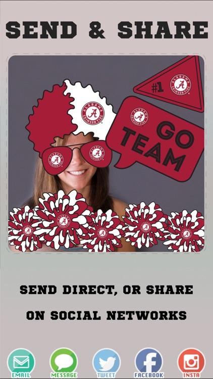 Alabama Crimson Tide Photo Selfie Stickers screenshot-3