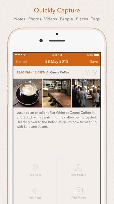 Momento - Diary / Journal Screenshots
