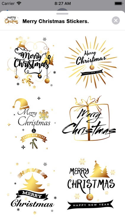 Merry Christmas Stickers..