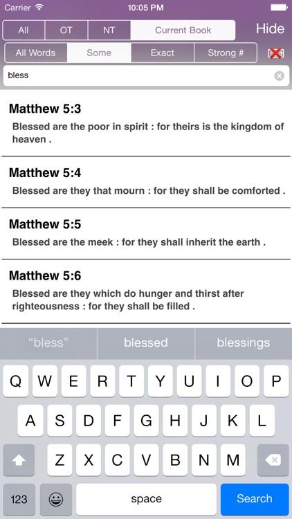 Touch Bible: KJV + Strongs screenshot-3
