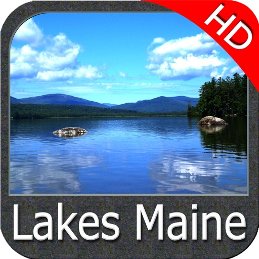 Maine lakes charts HD - GPS fishing maps Navigator