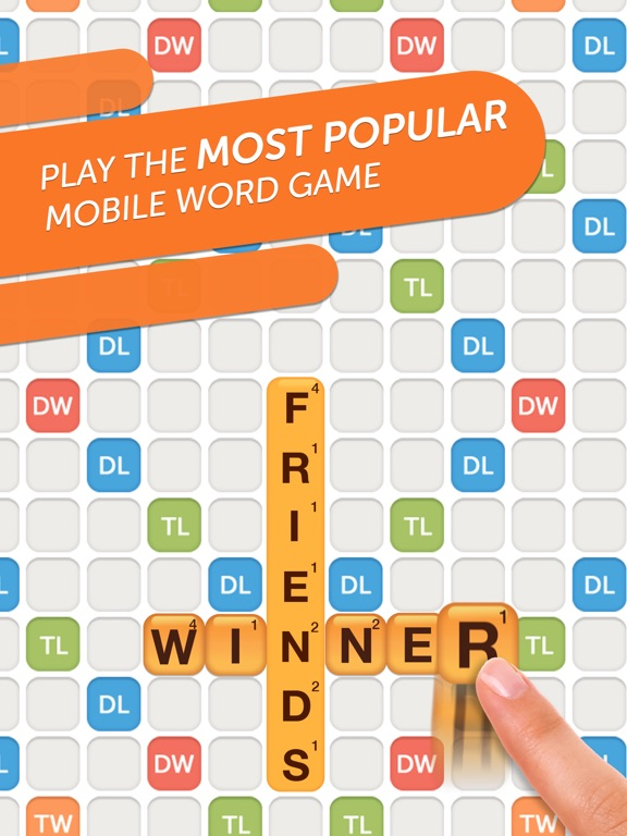 Words With Friends 2-Word Game на iPad