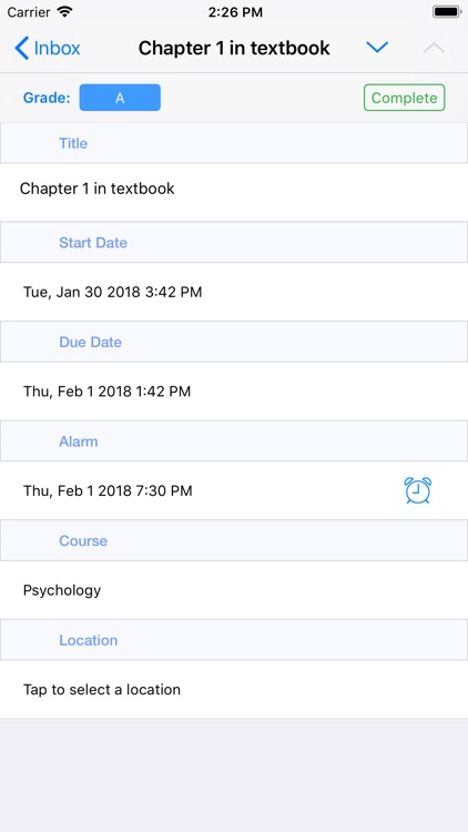 Assignments for iPhone screenshot-4