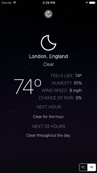 Outside - weather at a glance Screenshot