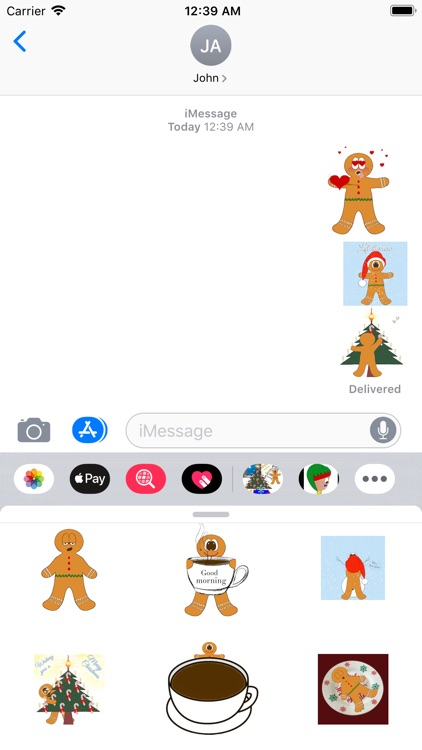 Animated Gingerbread Stickers