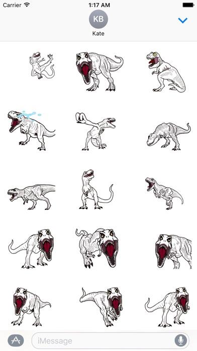 Animated T-rex Dinos Sticker screenshot 1
