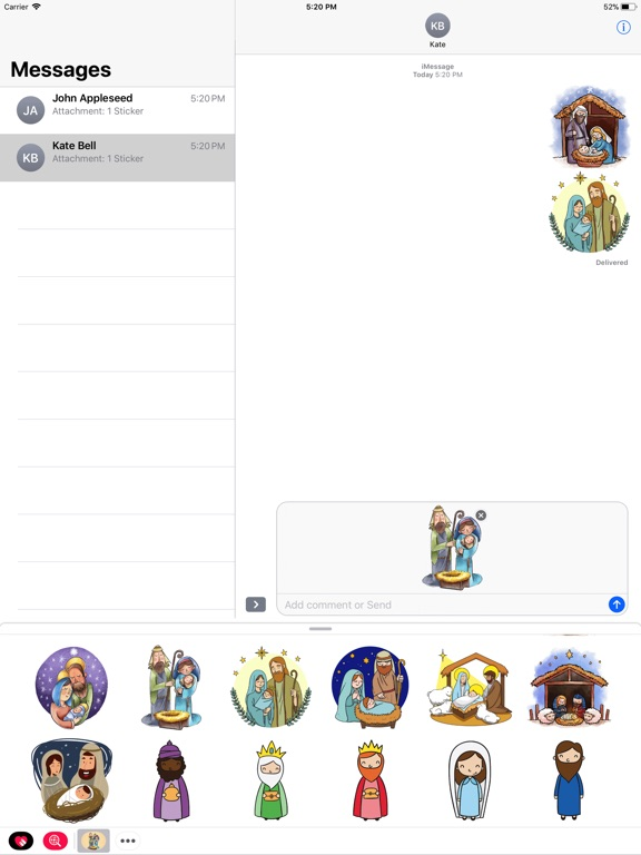 Cozy Nativity Scene Stickers-ipad-1