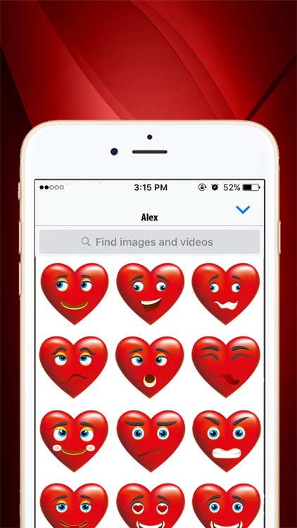 Heart Emoji Chat Stickers Pack