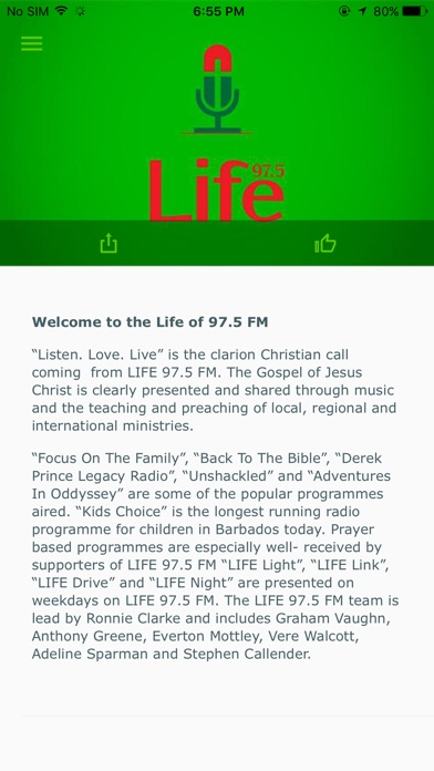 LIFE 97.5FM Screenshot