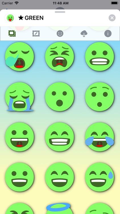 GREEN Emoji • Stickers screenshot-3