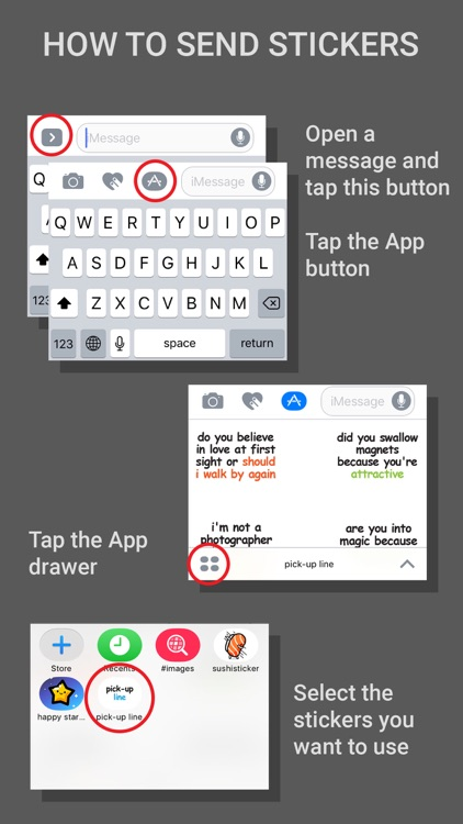Pick-up Line Stickers for iMessage screenshot-3