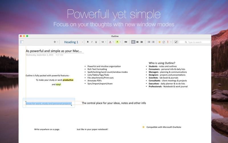 Outline –your digital notebook