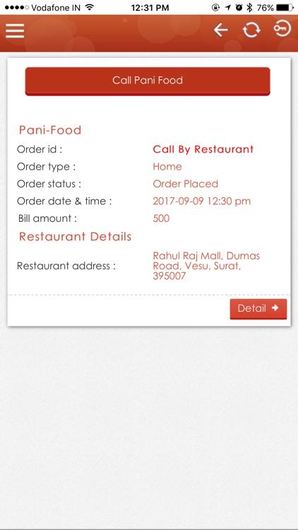 Pani Food Order