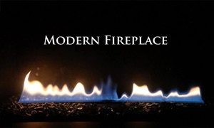 Modern Fireplace Black