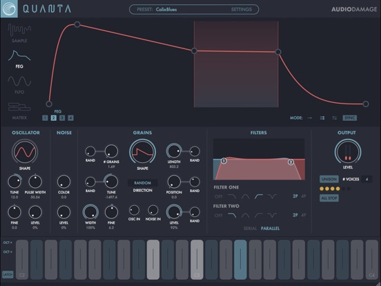 Quanta Granular Synth screenshot 2