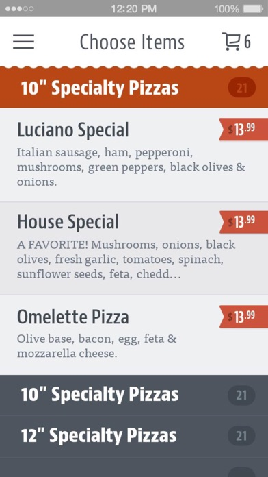 Luciano's Pizza Seattle screenshot 3