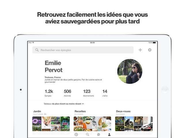 Pinterest Capture d'écran