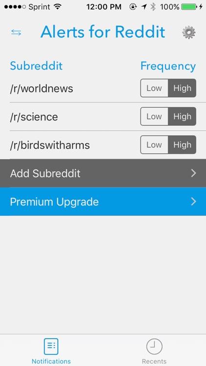 Alerts for Reddit