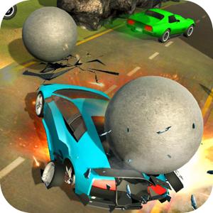 Rolling Balls Car Crash Race app