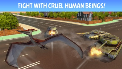 Pterodactyl Dino City Attack Simulator 3D screenshot two