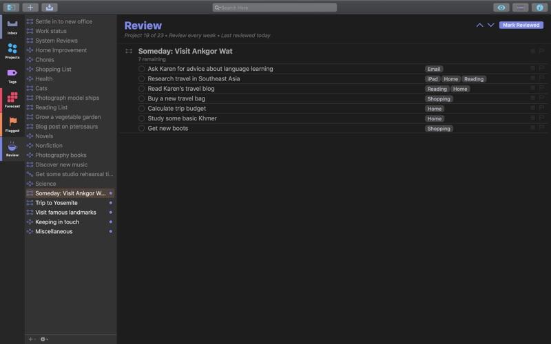 OmniFocus 3 for Mac