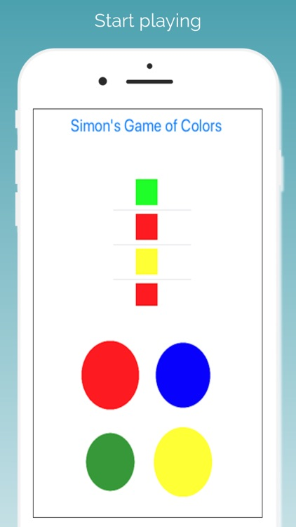 Simon's Game of Colors
