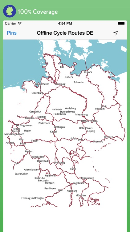 Offline Cycle Routes Germany screenshot-0