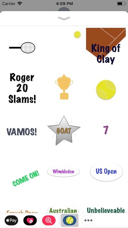 Fun Tennis Animated Stickers