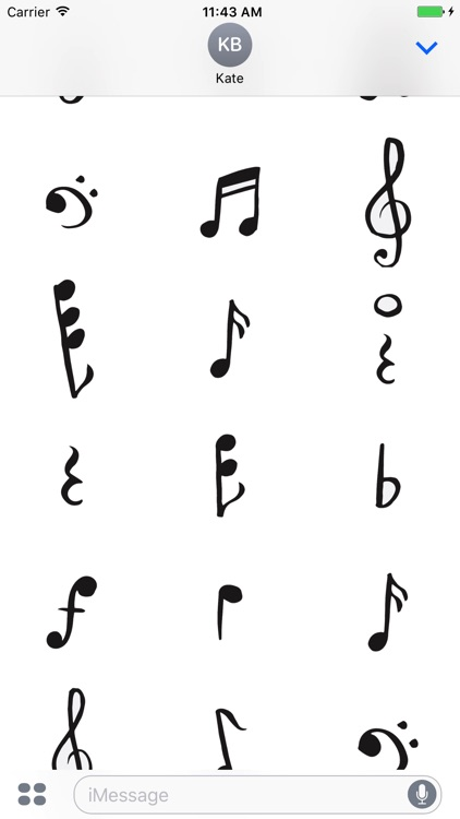 Music Notes sticker pack